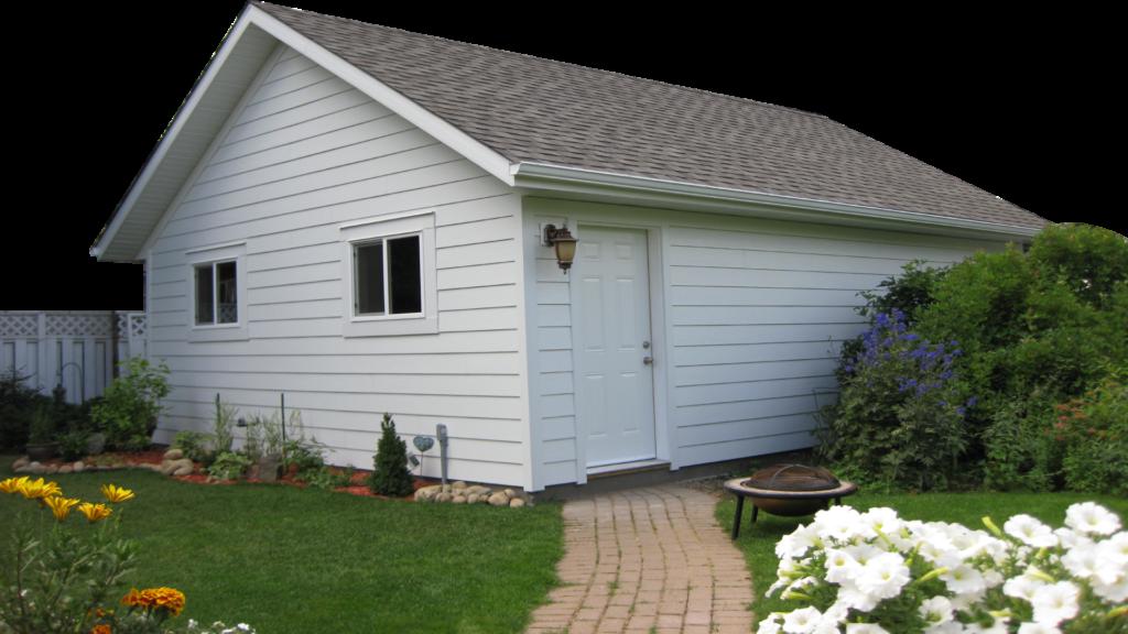 cute garden garage built fast