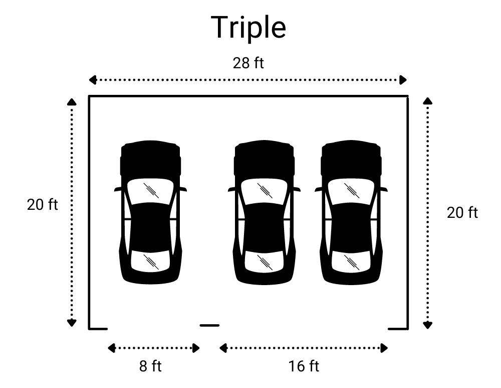 Triple Garage Size